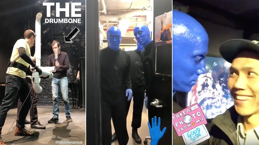 Enter the World of Blue Man Group with This Rare Look Beh...