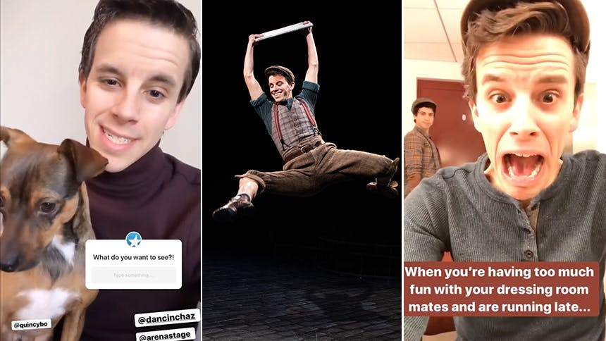 Chaz Wolcott Gives Fansies a Look at Newsies at Arena Stage