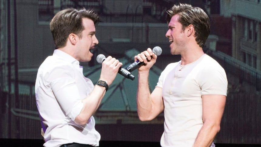 """Hot Clip of the Day: """"Let's Have Fun!"""" Gavin Creel & Aaron …"""
