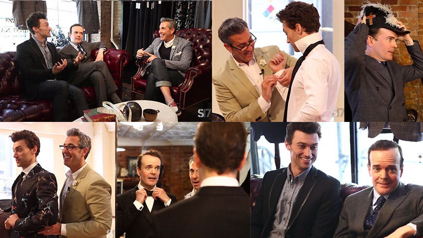 Watch Bryce Pinkham & Jefferson Mays Get Suited Up with Geo…