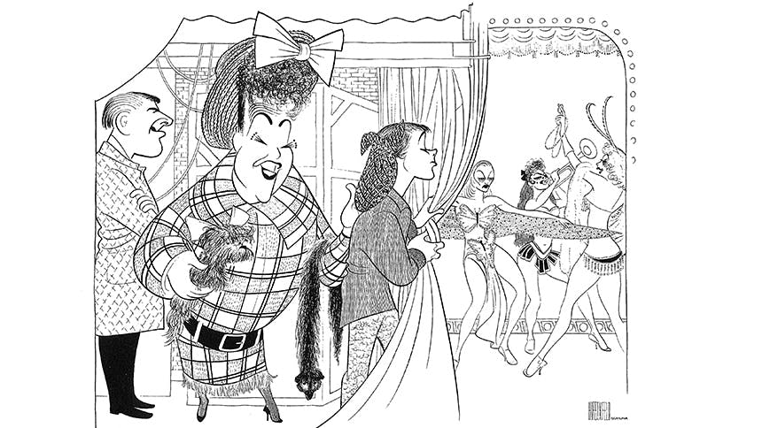 See 10 Rare Works by Famed Broadway Artist Al Hirschfeld