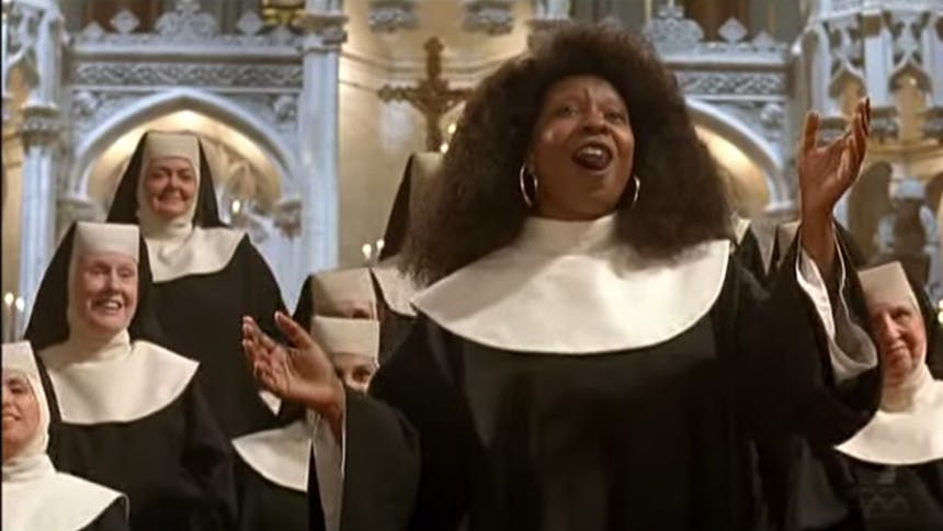 the pope is here  so let u2019s have a sister act movie moment