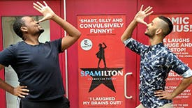 Aaron Michael Ray & Tristan J. Shuler Take Instagram Behind the Scenes at off-Broadway's Hilarious Hit Spamilton