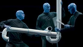 Chances Are You've Never Seen an Instrument Quite Like Blue Man Group 's The Drumbone!