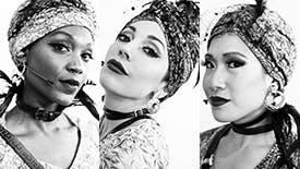 Backstage Photos & Interviews with The Magnificent Fates of Hadestown, Jewelle Blackman, Yvette Gonzalez-Nacer, and Kay Trinidad