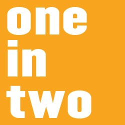 one in two