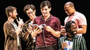 Samuel H. Levine, Kyle Soller, Kyle Harris, Arturo Luis Soria, Jordan Barbour and Darryl Gene Daughtry Jr. in The Inheritance