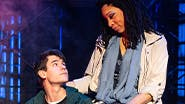 Chris McCarrell and Jalynn Steele in The Lightning Thief