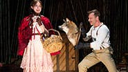 Emily Young as Little Red Ridinghood & Noah Brody as The Wolf in 'Into the Woods'