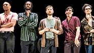 Jordan Barbour, Darryl Gene Daughtry Jr., Kyle Soller, Arturo Luis Soria and Kyle Harris in The Inheritance