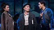 Lea Salonga as Kei , George Takei as Sam Kimura and Telly Leung as Young Sam in  'Allegiance'