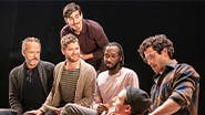 John Benjamin Hickey, Kyle Soller, Arturo Luis Soria, Gene Daughtry Jr., Dylan Frederick and Kyle Harris in The Inheritance