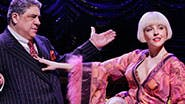Vincent Pastore as Nick Valenti and Helene Yorke as Olive Neal in 'Bullets Over Broadway'