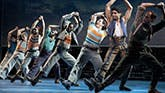 The cast of Carousel on Broadway.