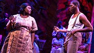 Danielle Brooks as Sofia and Kyle Scatliffe as Harpo in The Color Purple