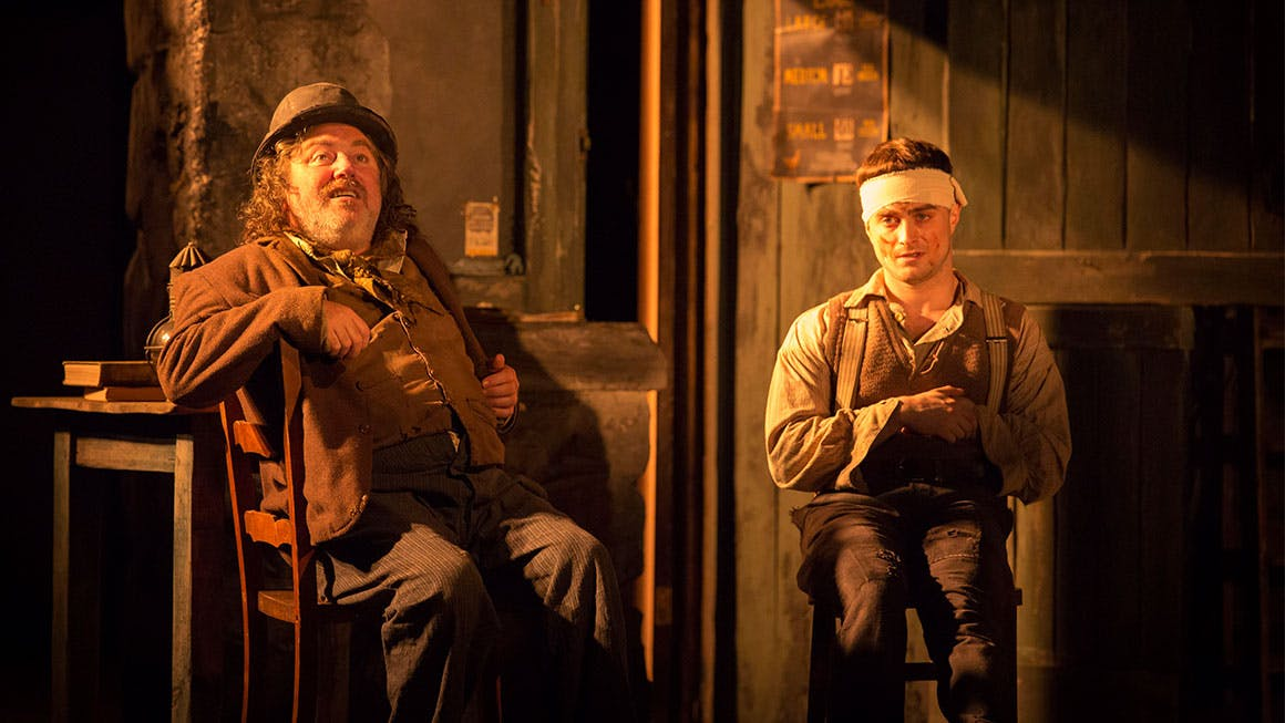 Pat Short and Daniel Radcliffe in 'The Cripple of Inishmaan.'