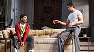 Danny Ashok as Abe and Hari Dhillon as Amir Kapoor in 'Disgraced.'