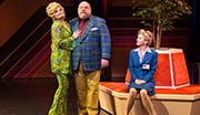 Faith Prince as Shirley, Kevin Chamberlin as Maury and Kerry Butler as Marianne in Disaster!