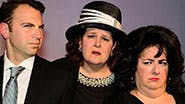 The cast of off-Broadway's My Big Gay Italian Funeral.