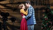 Lora Lee Gayer as Linda and Bryce Pinkham as Jim in Holiday Inn