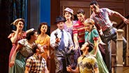 Bryce Pinkham as Jim and the company of Holiday Inn