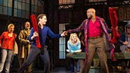 Andy Kelso as Charlie Price and Wayne Brady as Lola in Kinky Boots