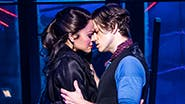 Karen Olivo as Satine and Aaron Tveit as Christian in Moulin Rouge! The Musical
