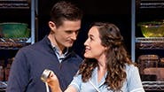 Alison Luff and Mark Evans as Jenna and Dr. Pomatter in Waitress