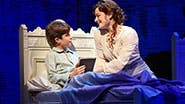 Aidan Gemme as Peter Llewelyn Davis and Laura Michelle Kelly as Sylvia Llewelyn Davis in 'Finding Neverland'