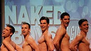 The cast of off-Broadway's Naked Boys Singing.