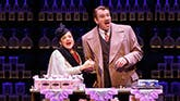Patti LuPone as Helena and Doulas Sills as Harry in War Paint on Broadway.