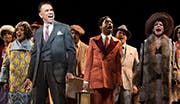 Brian Stokes Mitchell as F.E. Miller, Billy Porter as Aubrey Lyles, Audra McDonald as Lottie Gee and the cast of Shuffle Along