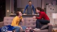 Thomas E. Sullivan as Chris, Jake Epstein as Ben and Jenna Gavigan as Emily in Straight
