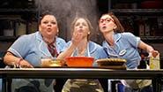 Keala Settle as Becky, Jessie Mueller as Jenna and Kimiko Glenn as Dawn in Waitress