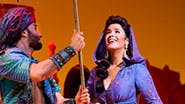 Brandt Martinez and Courtney Reed as Jasmine in Aladdin.