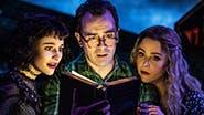 Sophia Anne Caruso, Rob McClure & Kerry Butler in 'Beetlejuice'