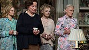 Martha Plimpton as Julia, Clare Higgins as Edna, Lindsay Duncan as Claire, Glenn Close as Agnes, John Lithgow as Tobias & Bob Balaban as Harry in 'A Delicate Balance'