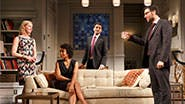 Gretchen Mol as Emily, Karen Pittman as Jory, Hari Dhillon as Amir Kapoor and Josh Radnor as Isaac in 'Disgraced.'
