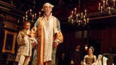 Lestyn Davies, Mark Rylance, Huss Garbiya and Melody Grove in Farinelli and the King.