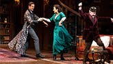 Harry Hadden, Laura Benanti and Allan Corduner in My Fair Lady on Broadway.