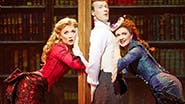 Scarlett Strallen as Sibella, Jeff Kready as Monty Navarro & Catherine Walker as Phoebe D'Ysquith in 'A Gentleman's Guide to Love and Murder'