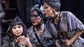 Eva Noblezada, Jewelle Blackman, Yvette Gonzalez-Nacer, and Kay Trinidad in 'Hadestown'