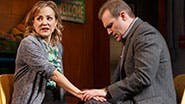 Geneva Carr as Margery and Marc Kudisch as Pastor Greg in 'Hand to God'