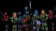 A scene from off-Broadway's iLuminate: Artist of Light.
