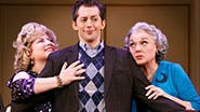 Chip Zien as Murray, Anne L Nathan as Aunt Sheila, Josh Grisetti as Marty, Tyne Daly as Judy, Adam Heller in 'It Shoulda Been You'