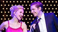 Jeanna de Waal as Lauren and Andy Kelso as Charlie in 'Kinky Boots'