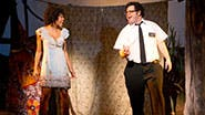 Nikki M. James and Josh Gad in The Book of Mormon.