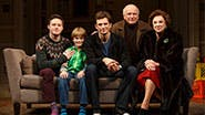 Bobby Steggert as Will Ogden, Grayson Taylor as Bud, Frederick Weller as Cal Porter, playwright Terrence McNally & Tyne Daly as Katharine in 'Mothers and Sons'