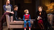 Bobby Steggert as Will Ogden, Frederick Weller as Cal Porter, Grayson Taylor as Bud,  & Tyne Daly as Katharine in 'Mothers and Sons'