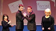 A scene from off-Broadway's NEWSical the Musical.
